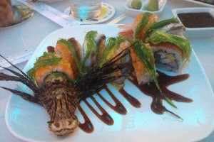 Lionfish Sushi is Innovative and Artistic at E Sushi Shap in Aruba!