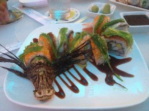 Lionfish Sushi - Shap in Aruba - The World Lionfish Hunters Association