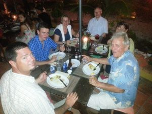 Eating a Lionfish Dinner with Go West Diving Clients at Landhuis Misje in Curacao