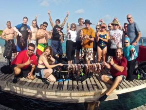 Lionfish hunters having a great time!