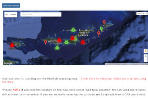 New Lionfish Tracking Map released today