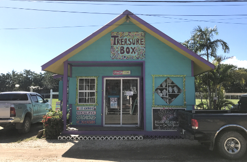 The Treasure Box, lionfish jewelry store in Placencia, Belize