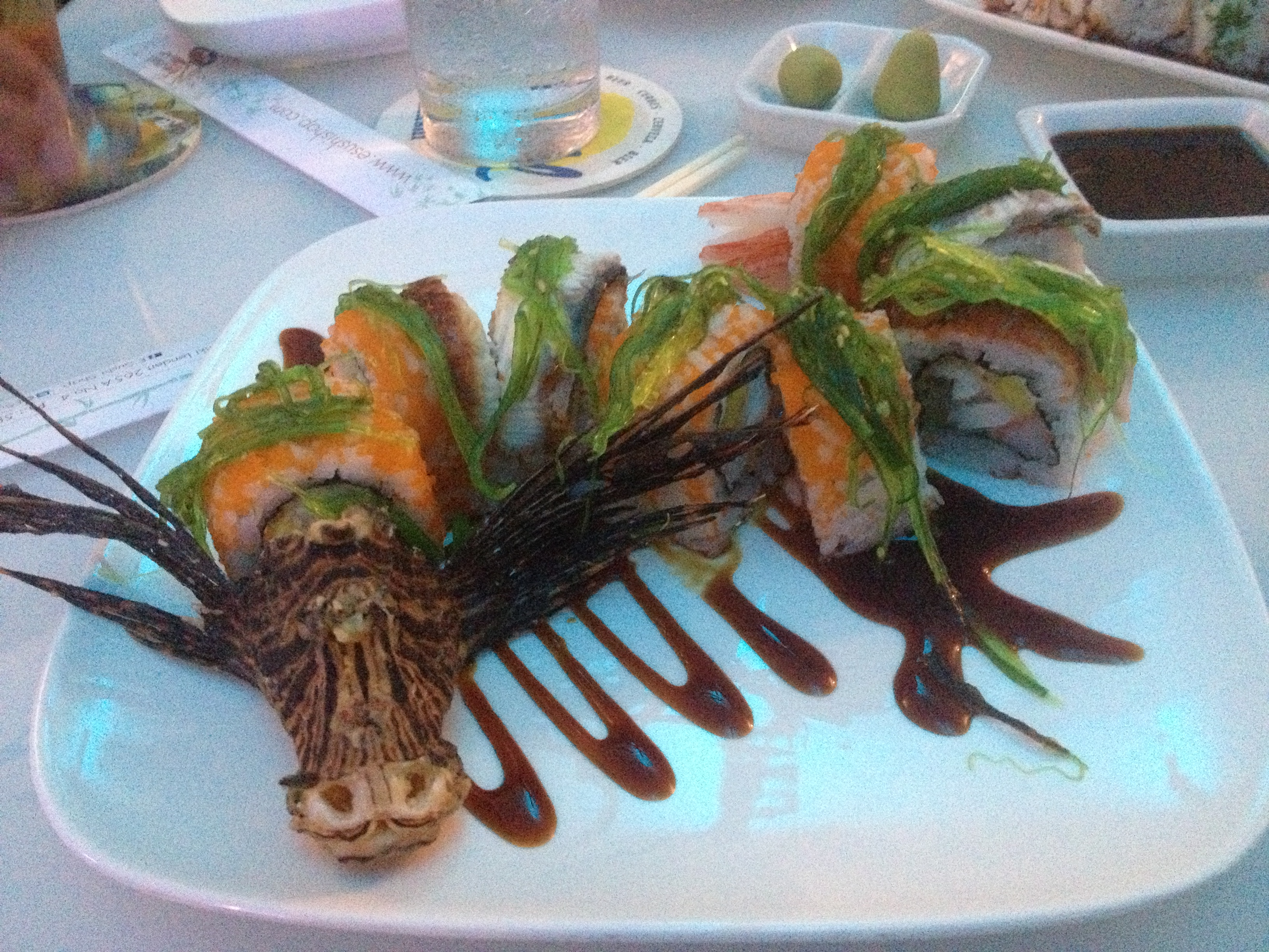 Lionfish Sushi is Innovative and Artistic at E Sushi Shap in Aruba! : Lionfish Hunting