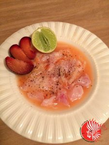 Grapefruit and Plum Lionfish Ceviche