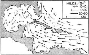 prevailing ocean currents