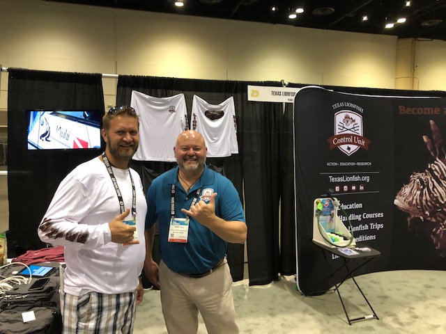 Brady Hale and Adam Wise of Texas Lionfish Control Unit