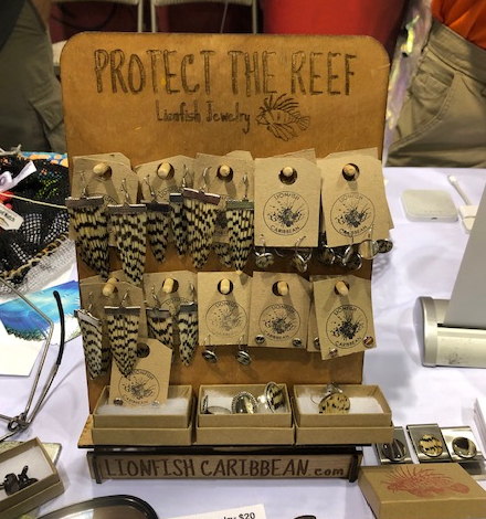 Lionfish jewelry hand made in Curacao by Lionfish Caribbean.